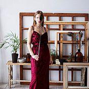 Платья ручной работы. Ярмарка Мастеров - ручная работа Бархатное платье. Handmade.