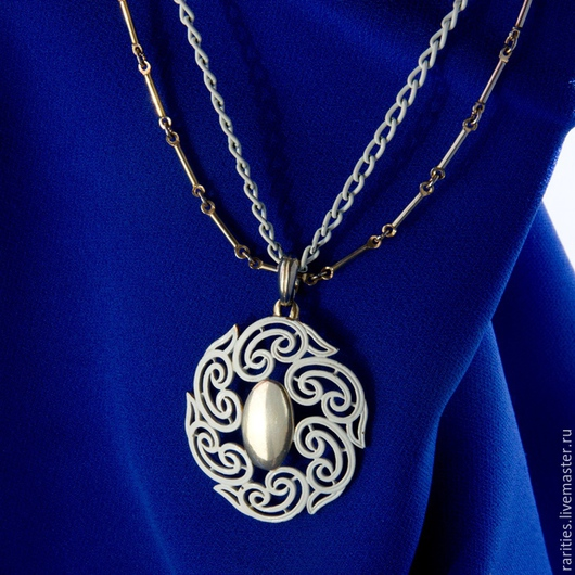 Винтажные украшения. Ярмарка Мастеров - ручная работа. Купить Ожерелье Миражи,США,двойное,50ые-60ые,невесте,подарок,белая эмаль. Handmade.