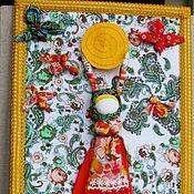 """Куклы и игрушки ручной работы. Ярмарка Мастеров - ручная работа кукла   """" Масленица""""  панно. Handmade."""