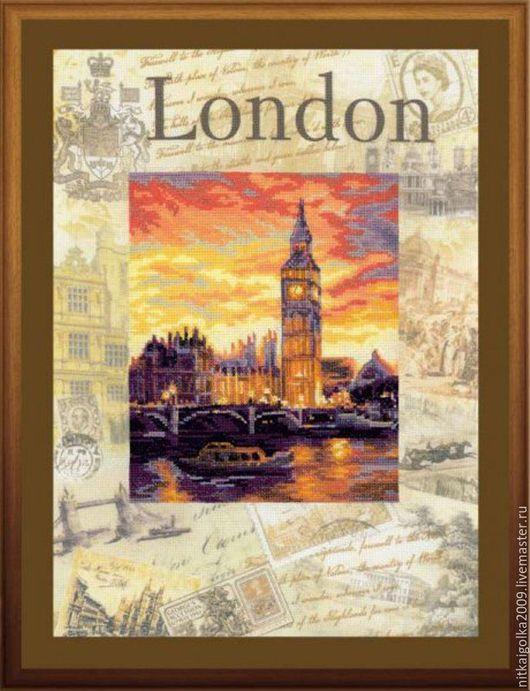 Вышивка ручной работы. Ярмарка Мастеров - ручная работа. Купить Набор для вышивки крестом «Города мира.Лондон». Handmade.