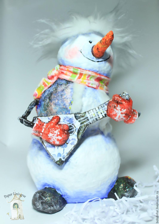 Снеговик из меха своими руками фото 21