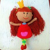 Мягкие игрушки ручной работы. Ярмарка Мастеров - ручная работа Кукла вязаная Царевна из мультфильма. Handmade.