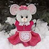 Куклы и игрушки ручной работы. Ярмарка Мастеров - ручная работа Мышка - перчаточная игрушка. Handmade.