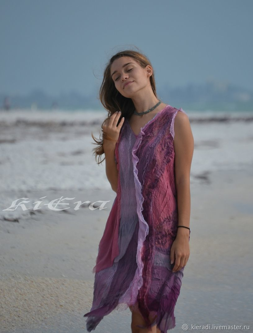 Silk summer dress the LIGHTNESS of a PETAL, Dresses, Sarasota,  Фото №1