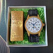 Косметика ручной работы handmade. Livemaster - original item soap: Watch and gold bar. Handmade.