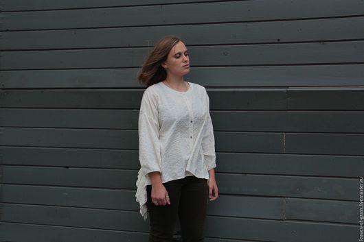 Блузки ручной работы. Ярмарка Мастеров - ручная работа. Купить Женская нарядная блузка. Handmade. Кремовый, стильная рубашка