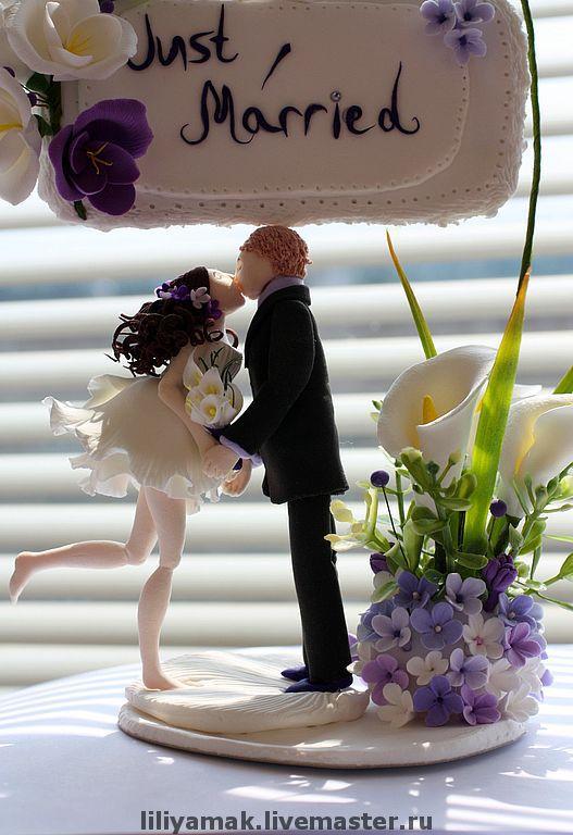 Свадебные аксессуары ручной работы. Ярмарка Мастеров - ручная работа. Купить Фигурки на свадебный торт. Handmade. Фигурки на торт
