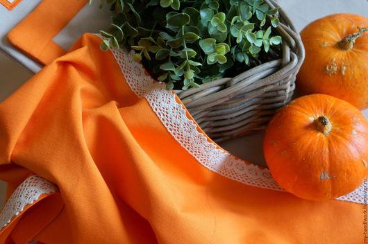 """Текстиль, ковры ручной работы. Ярмарка Мастеров - ручная работа. Купить Текстильный комплект """"Уютный дом"""". Handmade. Оранжевый, кухня"""