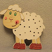 Для дома и интерьера handmade. Livemaster - original item Wall lamp night light Sheep. Handmade.