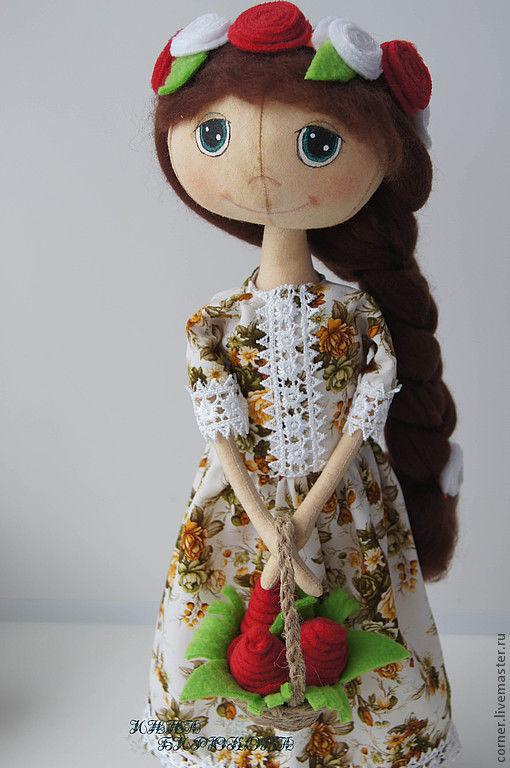 Ароматизированные куклы ручной работы. Ярмарка Мастеров - ручная работа. Купить Кукла с корзиной цветов.. Handmade. Кукла ручной работы