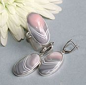 Украшения handmade. Livemaster - original item Set with agate. Silver. Handmade.
