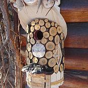 Для домашних животных, ручной работы. Ярмарка Мастеров - ручная работа Леопард хаус-скворечник для птиц. Handmade.
