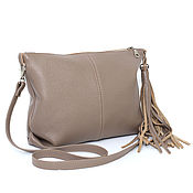 handmade. Livemaster - original item Crossbody Leather-Beige Crossbody Bag-Summer Shoulder Bag-Clutch Bag. Handmade.