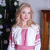 """Одежда ручной работы. Ярмарка Мастеров - ручная работа Блуза """"Миролада"""" красная. Handmade."""
