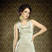 Одежда ручной работы. Ярмарка Мастеров - ручная работа Молочное коктельное платье. Handmade.
