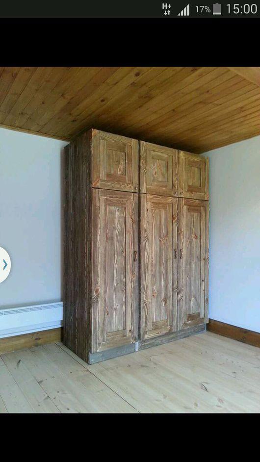 Мебель ручной работы. Ярмарка Мастеров - ручная работа. Купить Шкаф деревянный в стиле Лофт. Handmade. Шкаф, гардероб