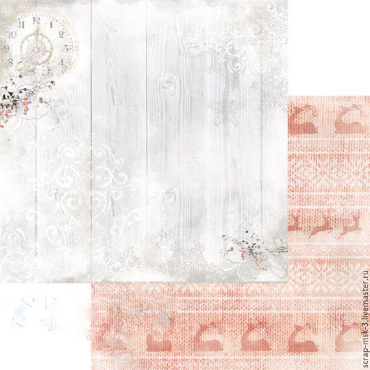 Открытки и скрапбукинг ручной работы. Ярмарка Мастеров - ручная работа. Купить Бумага для скрапбукинга Морозные вечера 3002 Fleur Design. Handmade.