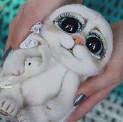 Куклы и игрушки handmade. Livemaster - original item Felted toy Teddy Bunny Freckle 2. Handmade.