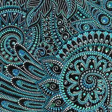 Канцелярские товары ручной работы. Ярмарка Мастеров - ручная работа Обложка на паспорт Мята со льдом Роспись Кожа. Handmade.