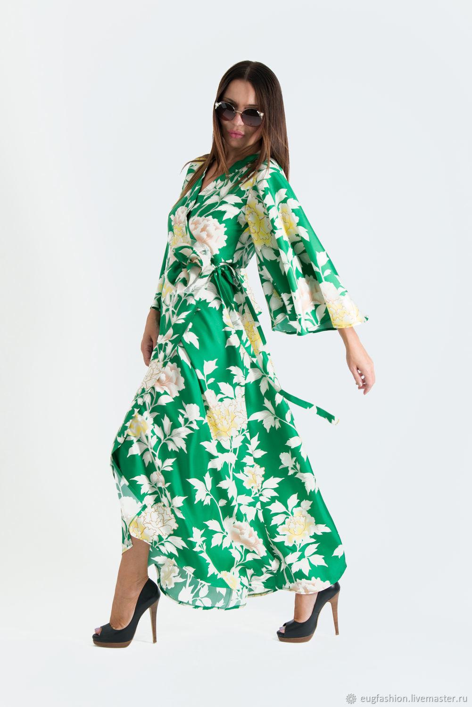 0bf81038cc1 Dresses handmade. Livemaster - handmade. Buy Green summer wrap dress
