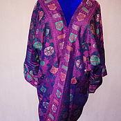 Одежда ручной работы. Ярмарка Мастеров - ручная работа Шелковый халат на подкладе. Шелковый кафтан. Handmade.