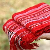 Работы для детей, ручной работы. Ярмарка Мастеров - ручная работа Детский домотканый шарф red. Handmade.