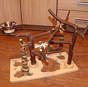 Для домашних животных, ручной работы. Ярмарка Мастеров - ручная работа Стенд для попугаев. Handmade.