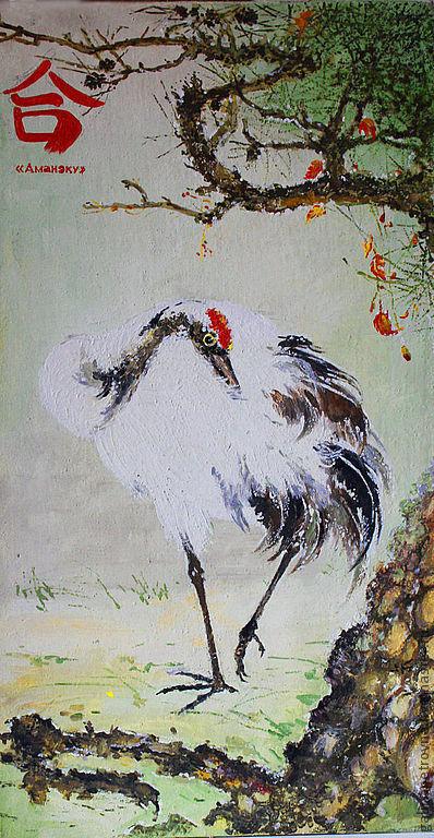 Животные ручной работы. Ярмарка Мастеров - ручная работа. Купить журавлик - талисман. Handmade. Мятный, талисман-журавлик, птица, масло