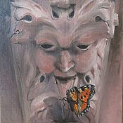 Картины и панно ручной работы. Ярмарка Мастеров - ручная работа Продана. Картина. Зеленый Джек. Handmade.