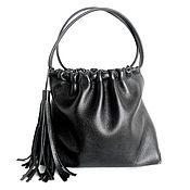 Сумки и аксессуары handmade. Livemaster - original item Leather Bag Shopper Bag Package Black Leather Bag for Women. Handmade.