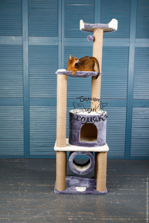 """Аксессуары для кошек, ручной работы. Ярмарка Мастеров - ручная работа. Купить Домик- когтеточка """"Степа"""". Handmade. Кот, для собак, Когтеточка"""