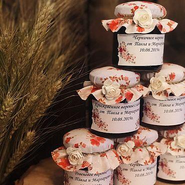Свадебный салон ручной работы. Ярмарка Мастеров - ручная работа Бонбоньерка с вареньем. Handmade.
