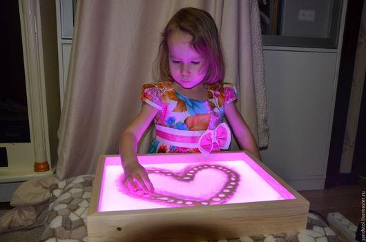 Настольные игры ручной работы. Ярмарка Мастеров - ручная работа. Купить Планшет для рисования песком 34x44 см  (цветная подсветка с пультом). Handmade.