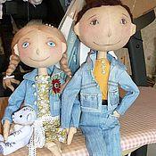 Куклы и игрушки ручной работы. Ярмарка Мастеров - ручная работа Влюбленные на прогулке. Handmade.