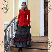 Одежда ручной работы. Ярмарка Мастеров - ручная работа Тёплая юбка из шерсти Грация юбка зимняя. Handmade.