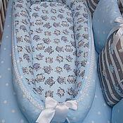 Бортики в кроватку ручной работы. Ярмарка Мастеров - ручная работа Кокон-гнёздышко для малыша.. Handmade.