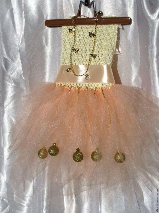 """Одежда для девочек, ручной работы. Ярмарка Мастеров - ручная работа. Купить платье туту """"Нежность"""". Handmade. Бежевый, платье для девочки"""