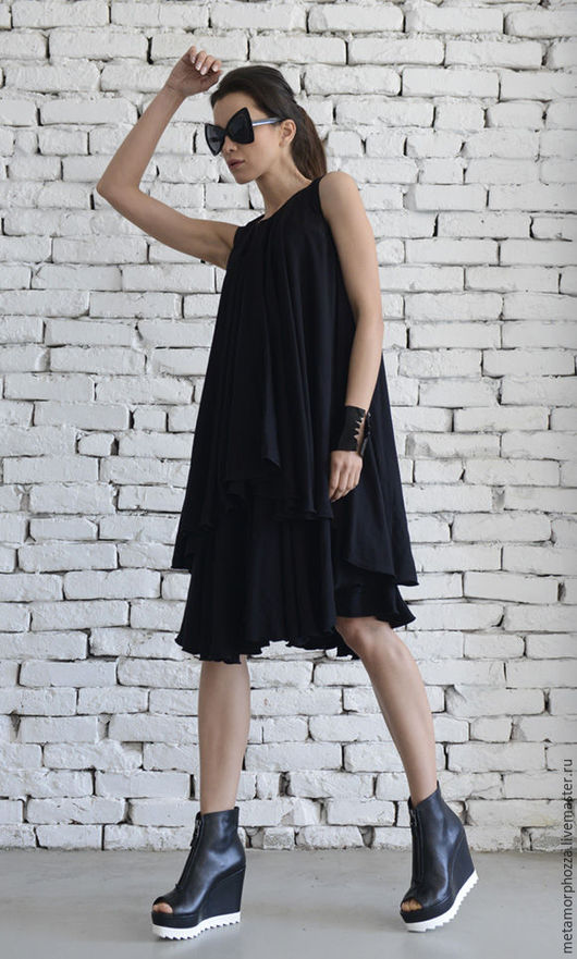 Платья ручной работы. Ярмарка Мастеров - ручная работа. Купить ПЛАТЬЕ ЧЕРНОЕ Black swan. Handmade. Платье, летнее платье