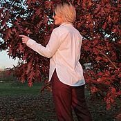Брюки ручной работы. Ярмарка Мастеров - ручная работа Теплые брюки из полушерсти. Handmade.