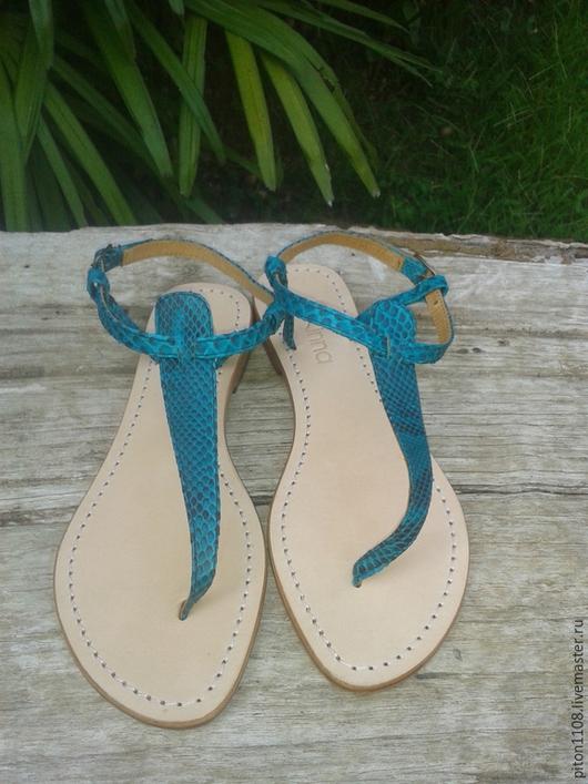 Обувь ручной работы. Ярмарка Мастеров - ручная работа. Купить Сандалии из кожи питона.. Handmade. Сандалии, сандалии из питона