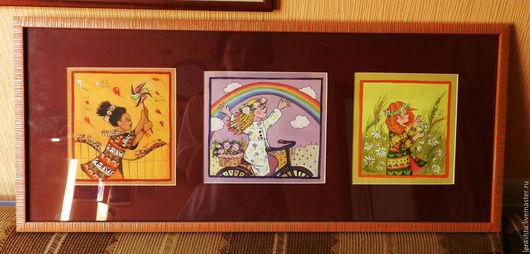 Люди, ручной работы. Ярмарка Мастеров - ручная работа. Купить серия картин Ветер. Handmade. Комбинированный, зима, воздух