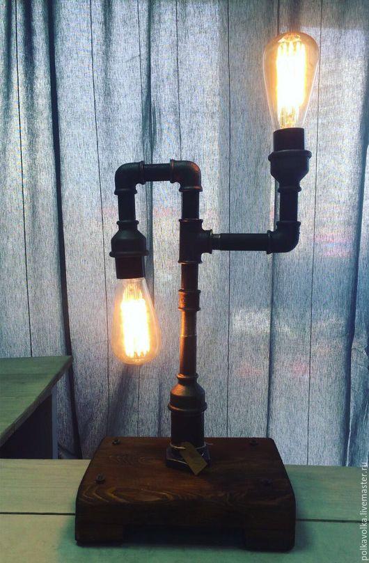 Освещение ручной работы. Ярмарка Мастеров - ручная работа. Купить Настольная лампа из водопроводных труб. Handmade. Handmade
