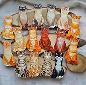 """Сувениры и подарки ручной работы. Ярмарка Мастеров - ручная работа магниты """"Счастливые коты"""". Handmade."""
