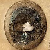 Украшения ручной работы. Ярмарка Мастеров - ручная работа Брошь с портретом девочки. Handmade.