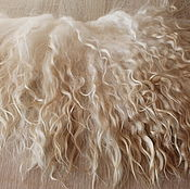 Материалы для творчества handmade. Livemaster - original item The skin of the goat # 20 (hair for dolls, white) Curls Curls for dolls. Handmade.
