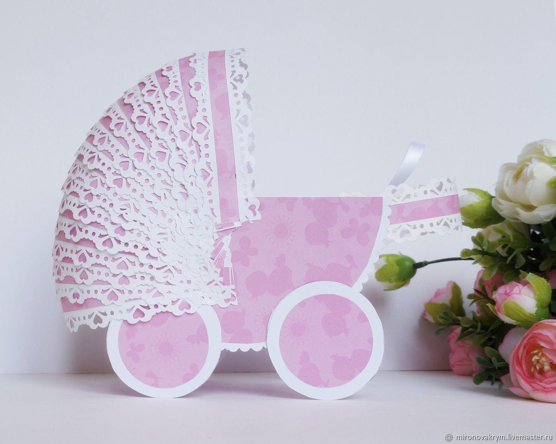 Анимационные счастья, открытка новорожденному коляска