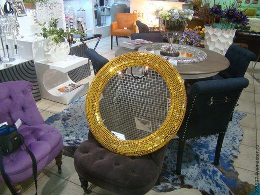 Зеркала ручной работы. Ярмарка Мастеров - ручная работа. Купить Зеркало в мозаичной раме, объемное. Handmade. Золотой, зеркало настенное
