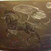 Картины и панно ручной работы. Ярмарка Мастеров - ручная работа Полет черного пегаса. Handmade.