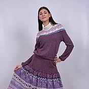 Одежда ручной работы. Ярмарка Мастеров - ручная работа Авторская вязаная юбка 700a. Handmade.
