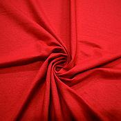 Ткани ручной работы. Ярмарка Мастеров - ручная работа Футер красный. Handmade.